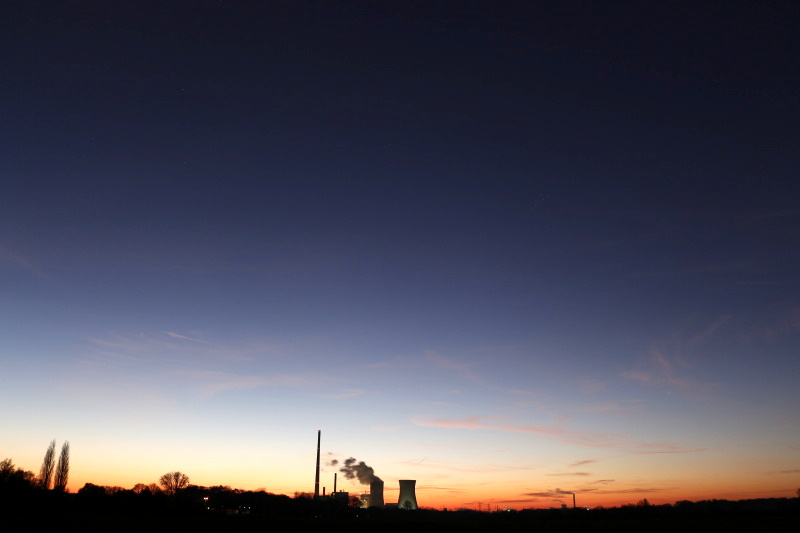 Sunset in the city of Lünen in Germany - picture 1