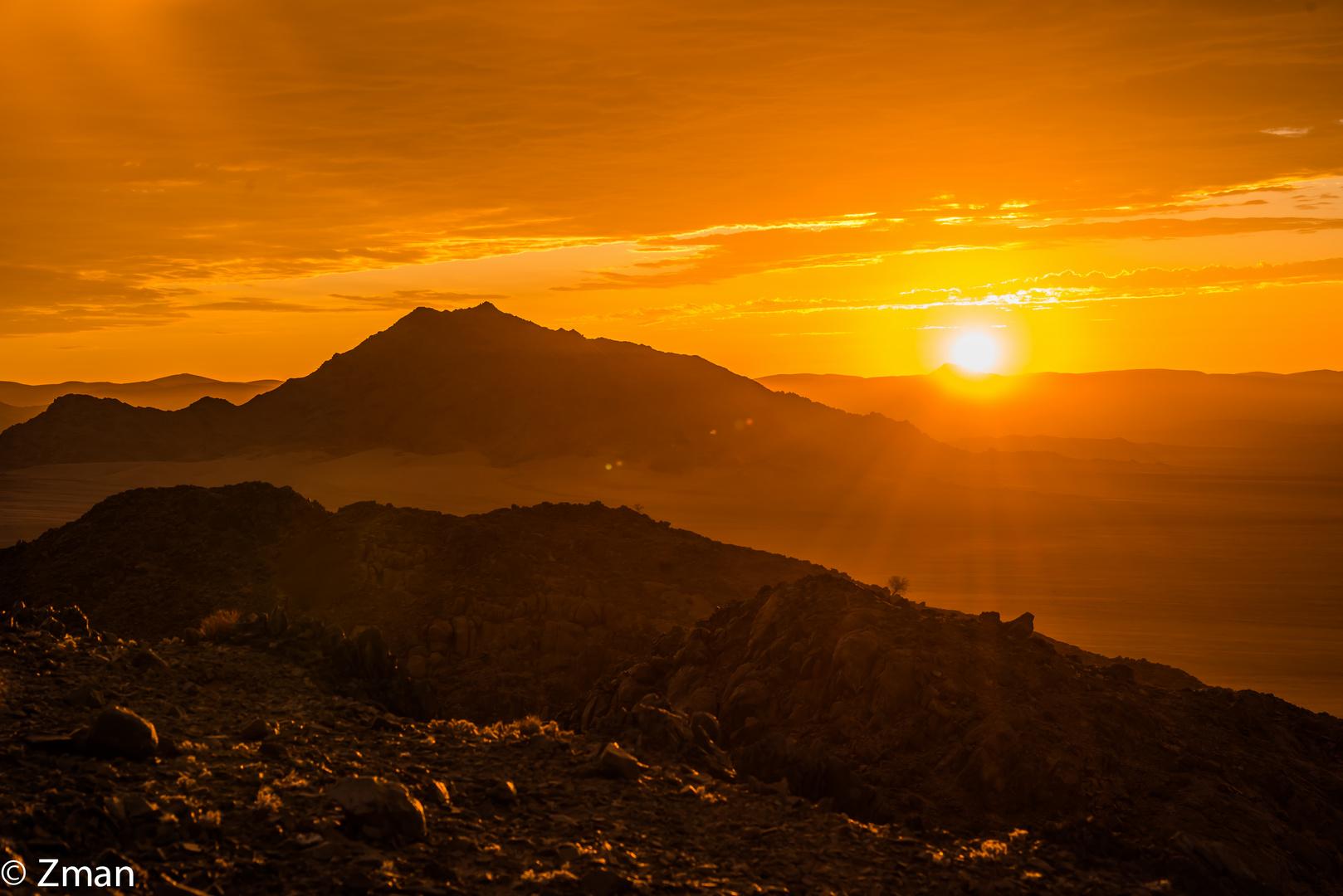 Sunset in The Namibian Desert 01
