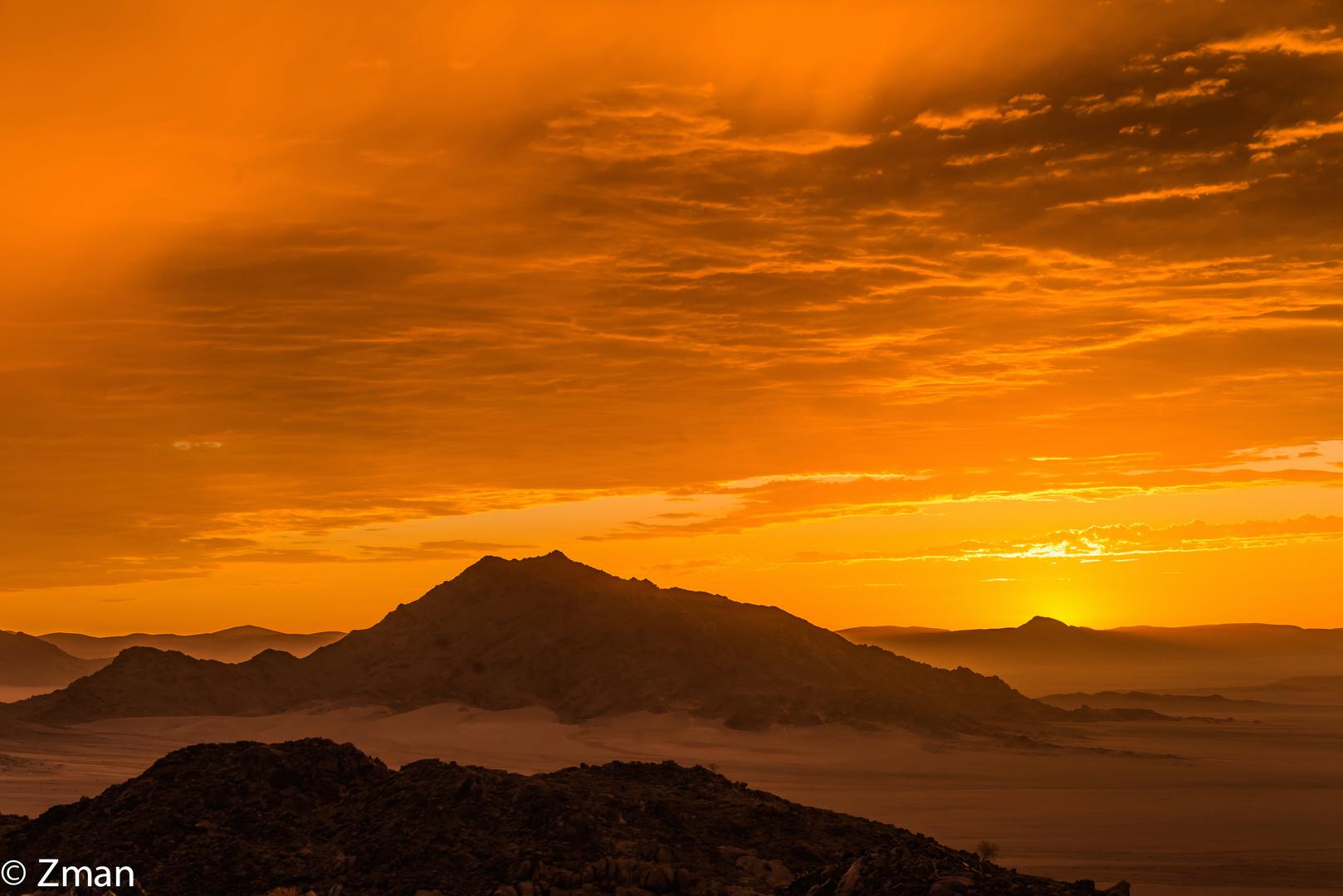 Sunset in The Namibian Desert 03