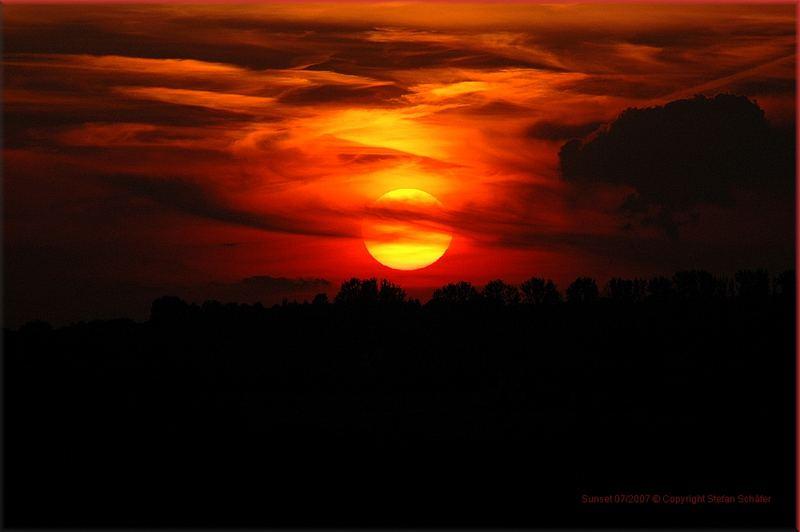 Sunset Juli 2007