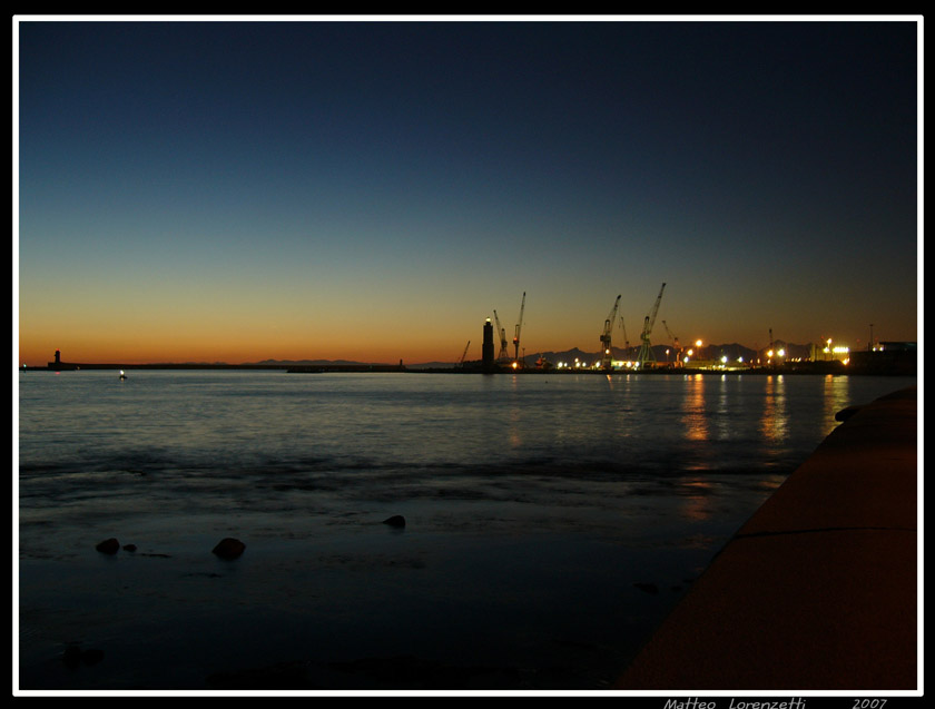 Sunset @ Livorno's Port