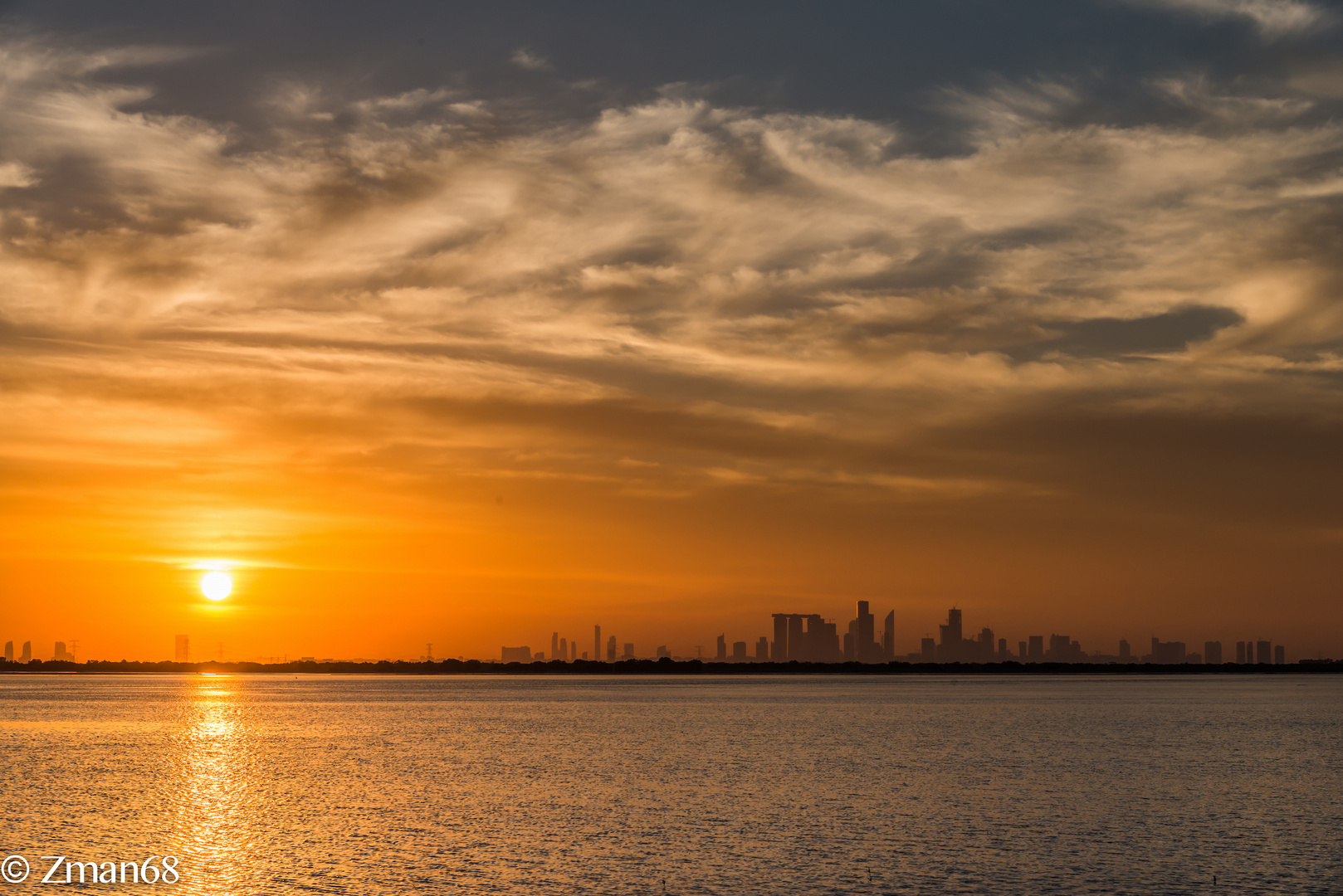 Sunset Looking at The Reem Island from Yas 2