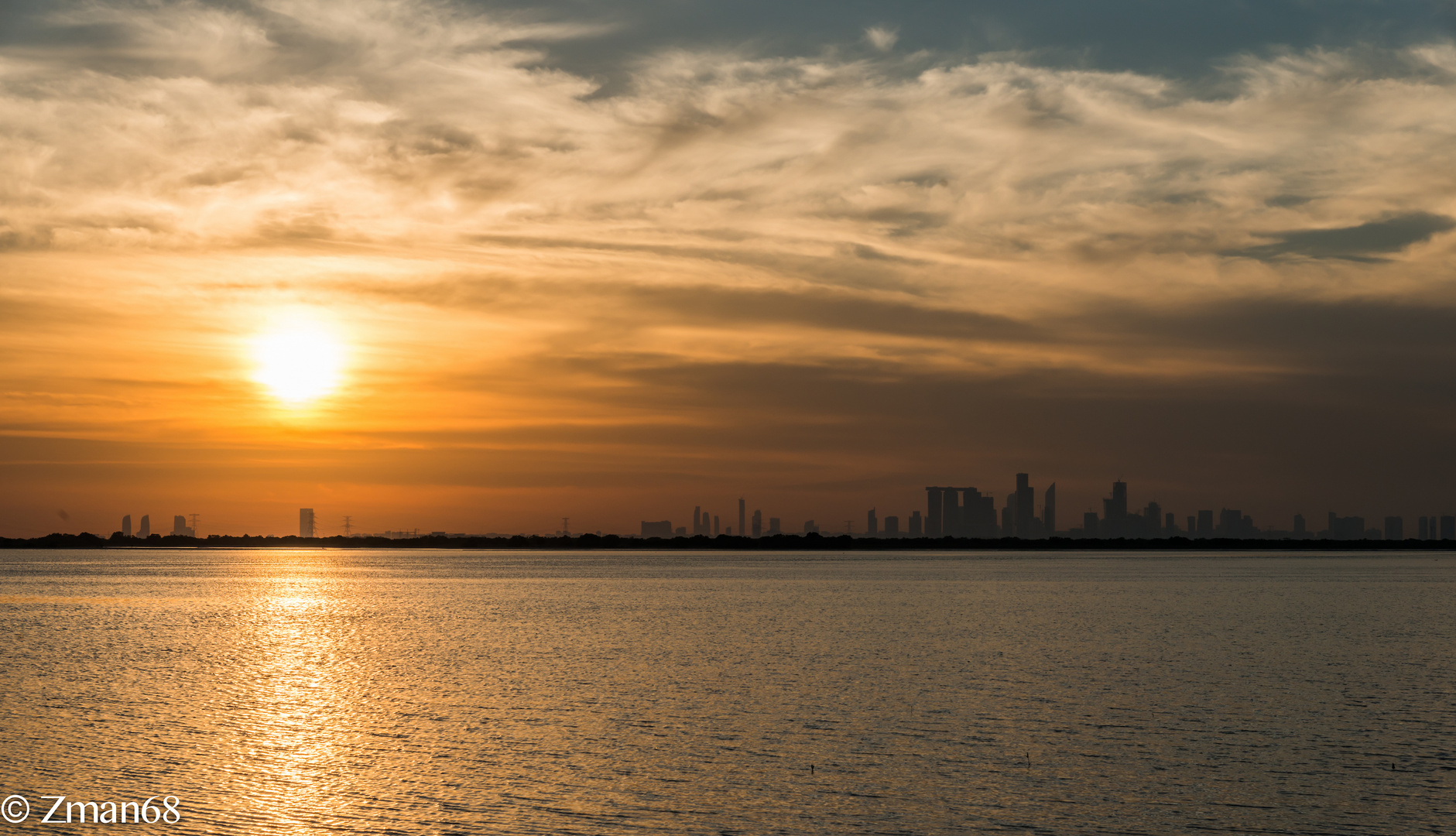 Sunset Looking at The Reem Island from Yas