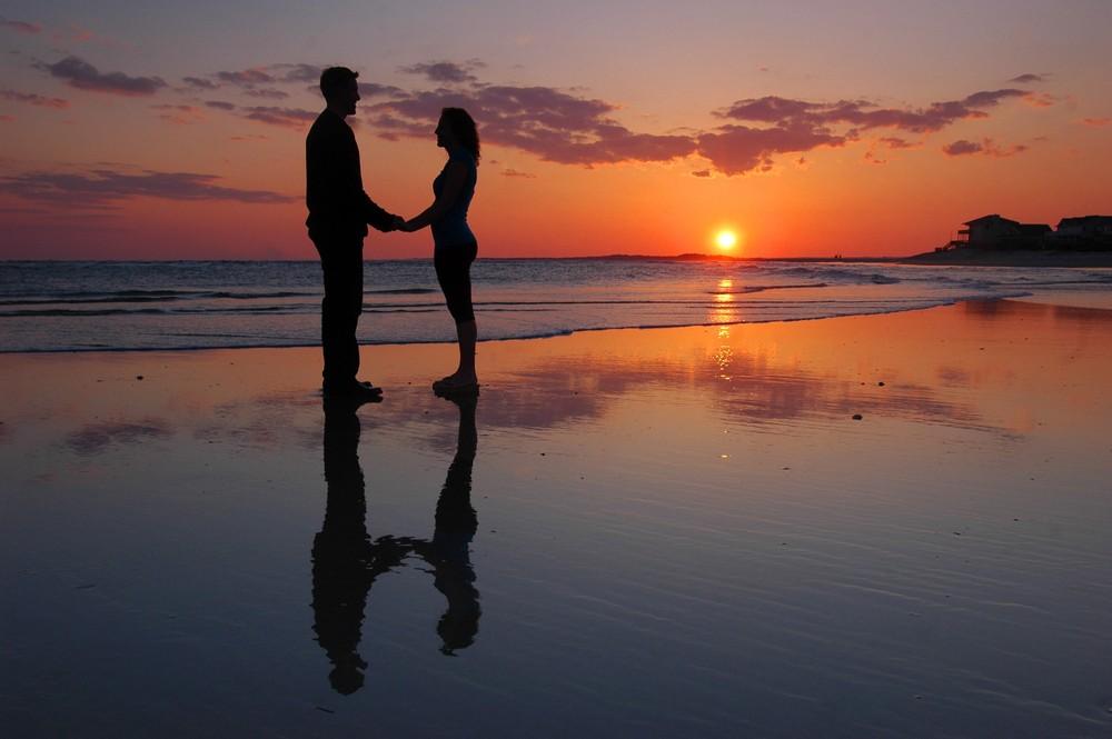 Sunset Love Photo Image Landscape Sand Sea Nature Images At