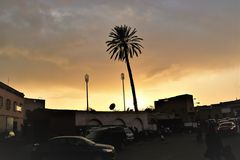 sunset Marrakesch vorm Tor M-63