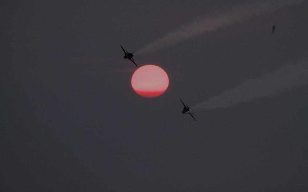 Sunset mit Tigers