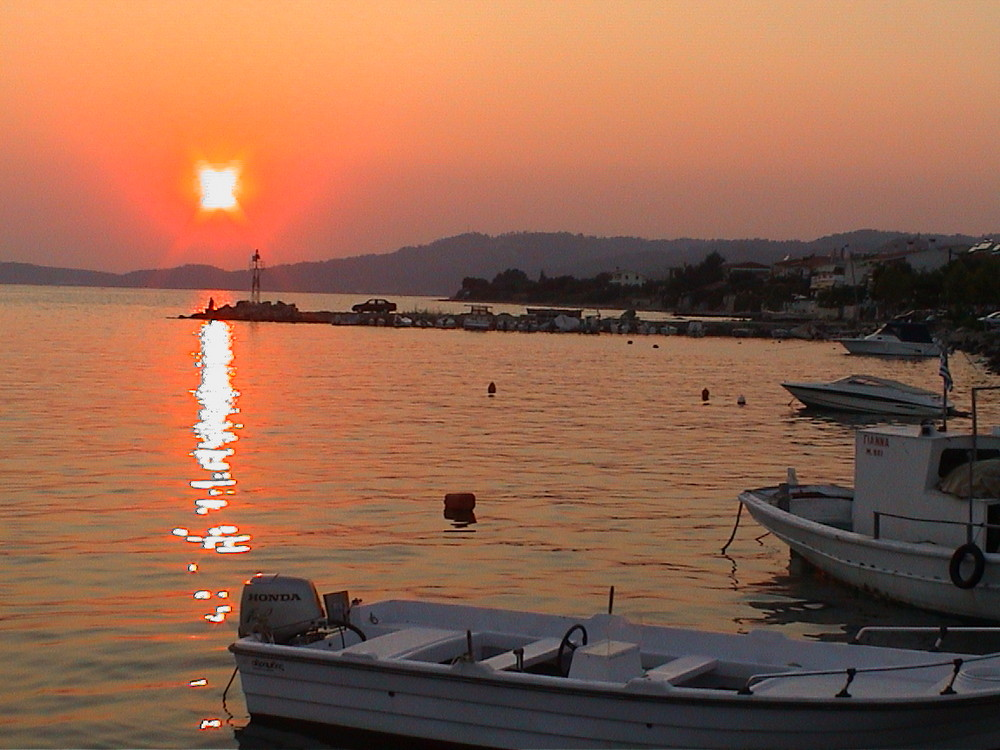 Sunset of Chalkidiki