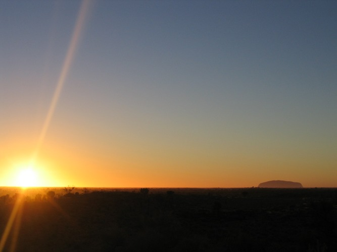 Sunset of the famous Uluru