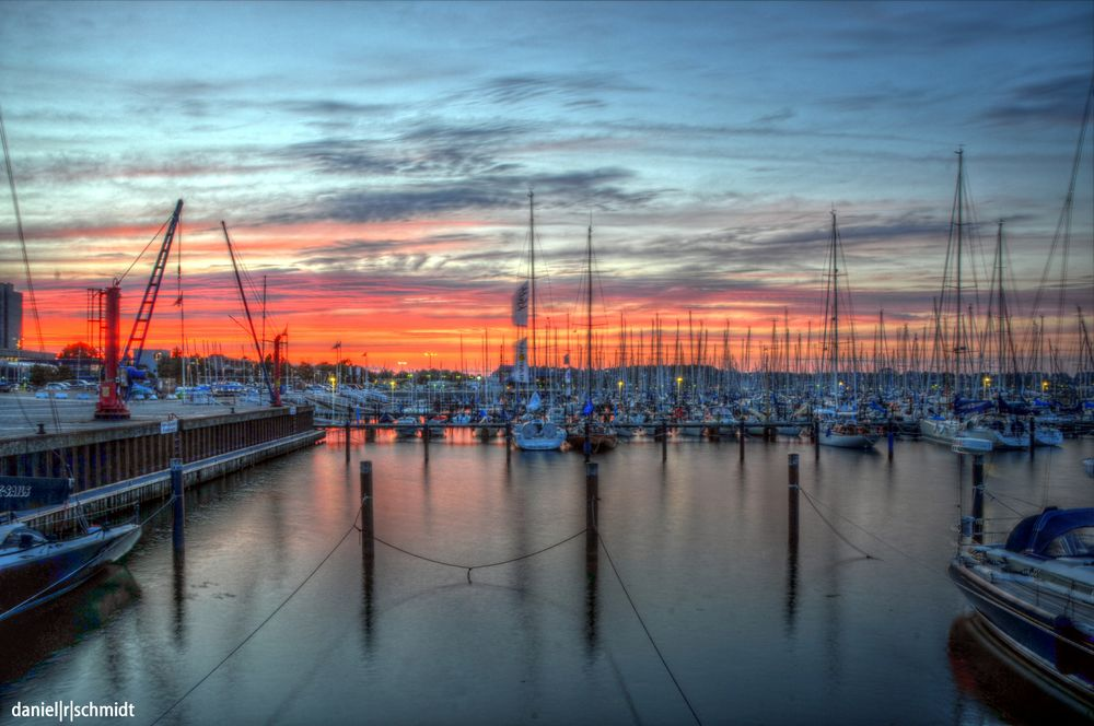 Sunset - Olympiahafen Kiel-Schilksee