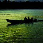 Sunset on de Wood River. Amazonia