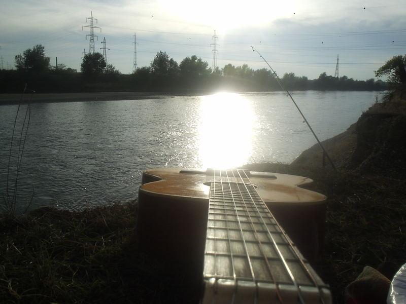 Sunset on guitar