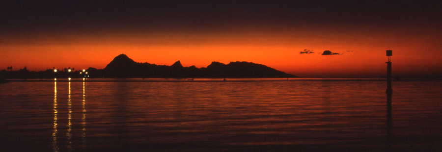 Sunset on Moorea