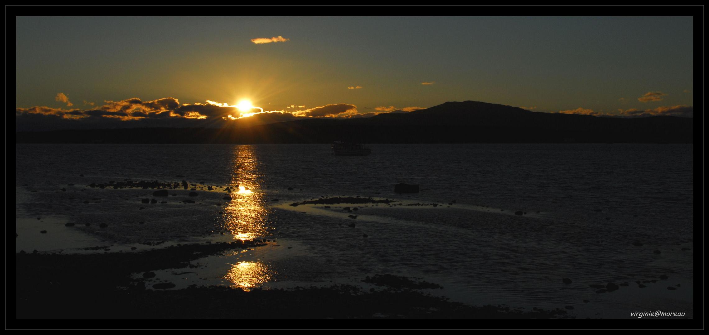 Sunset on Puerto Natales