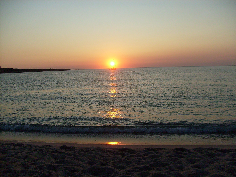 sunset on the beach.....