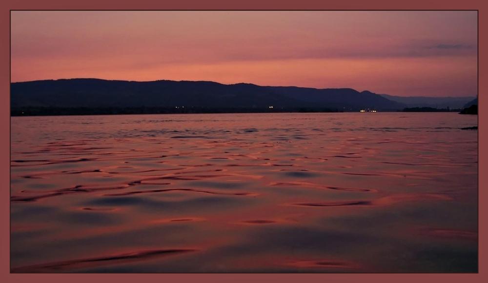 Sunset on the Blue Danube
