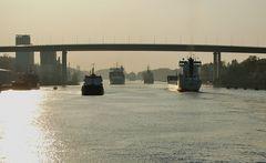 Sunset on the Kiel Canal