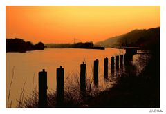 """"""" Sunset on the Maas """""""