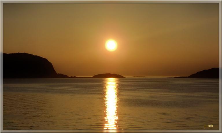 Sunset on the Norwegian fjords