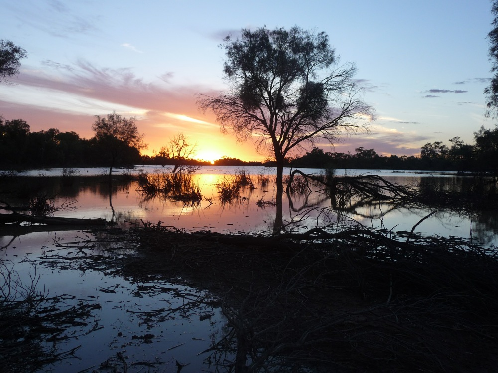Sunset on the Warrego River