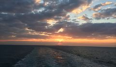 Sunset outside Bahrain