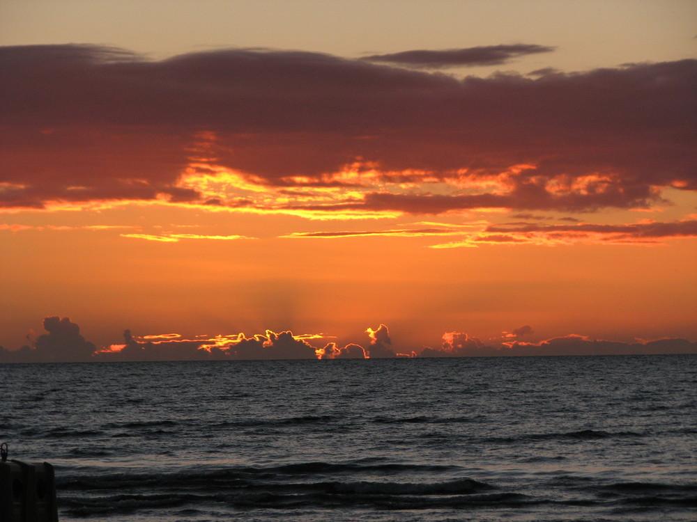 Sunset over Jurmala beach - Latvia