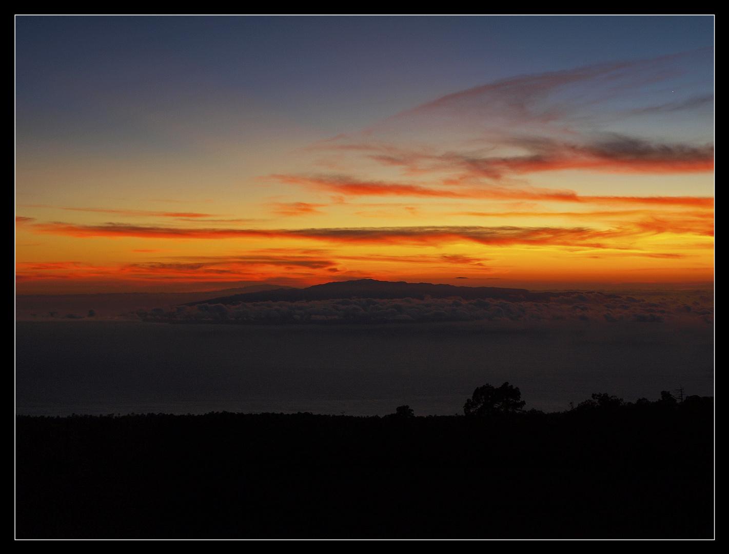 Sunset over La Gomera...