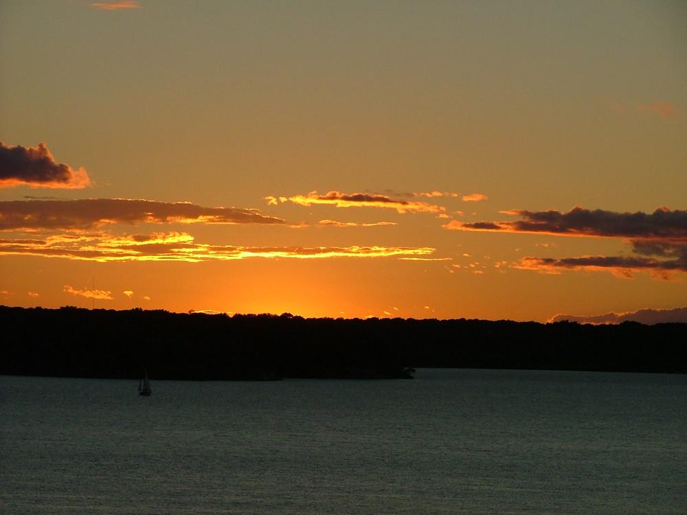 Sunset over Lake Belton