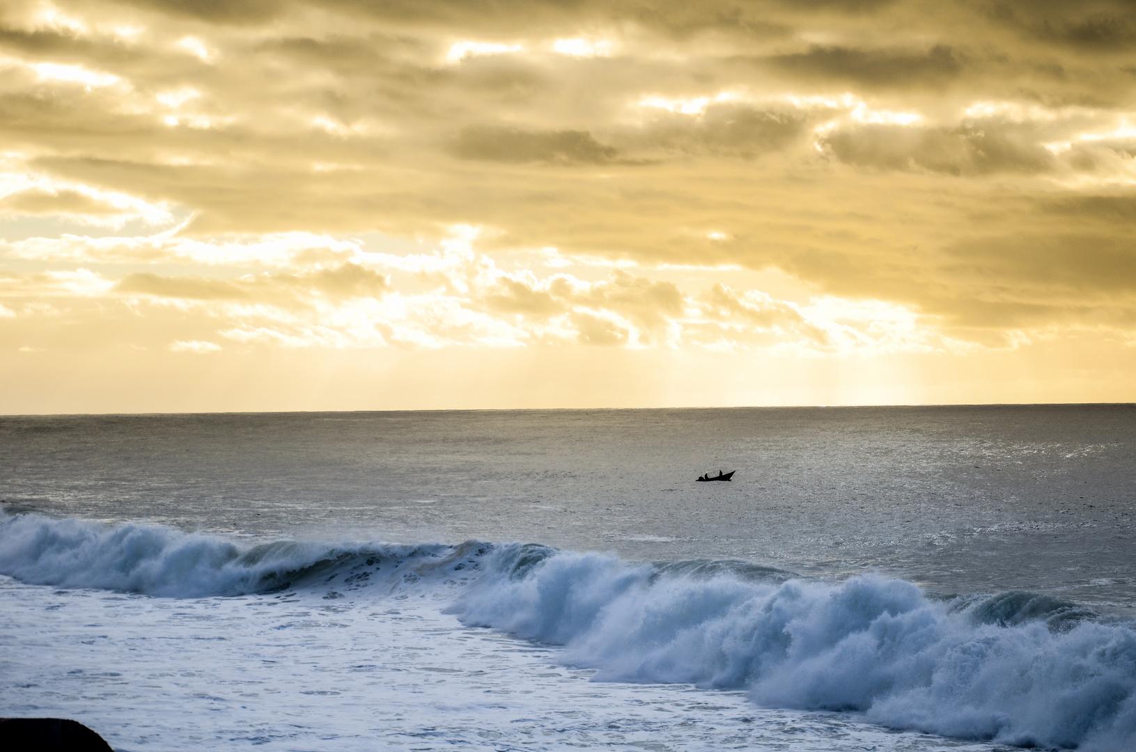 Sunset over Ozean