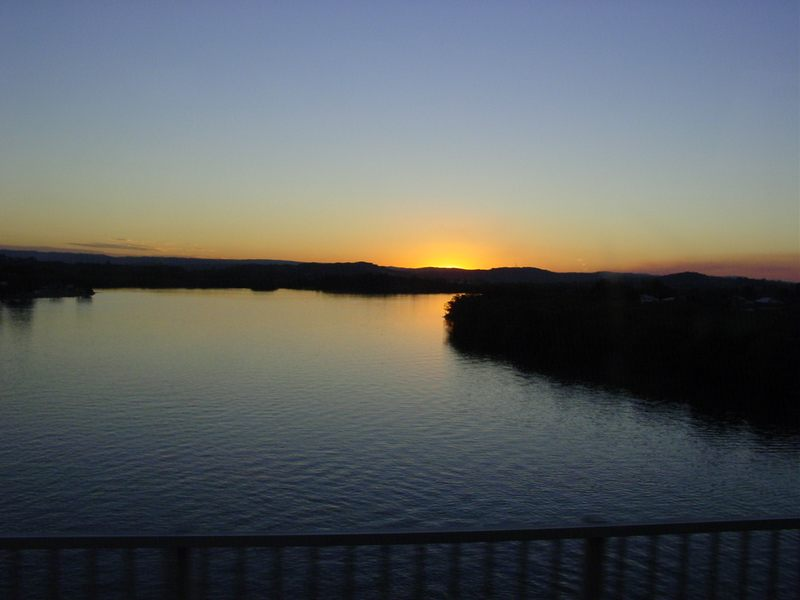 Sunset over Riverbed