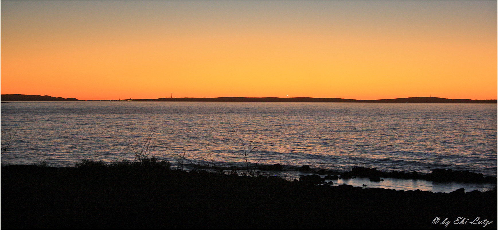 ** Sunset over the Gulf of Exmouth **