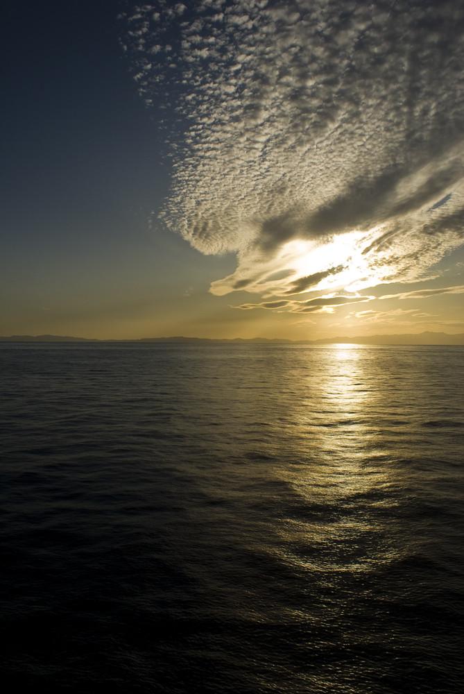Sunset over the Mediteranean Sea