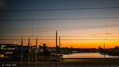 sunset over the river rhine 2