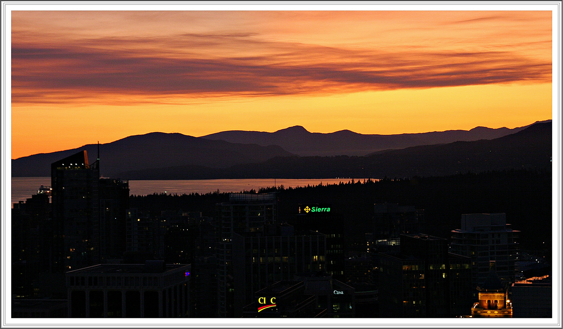 Sunset over Vancouver #1