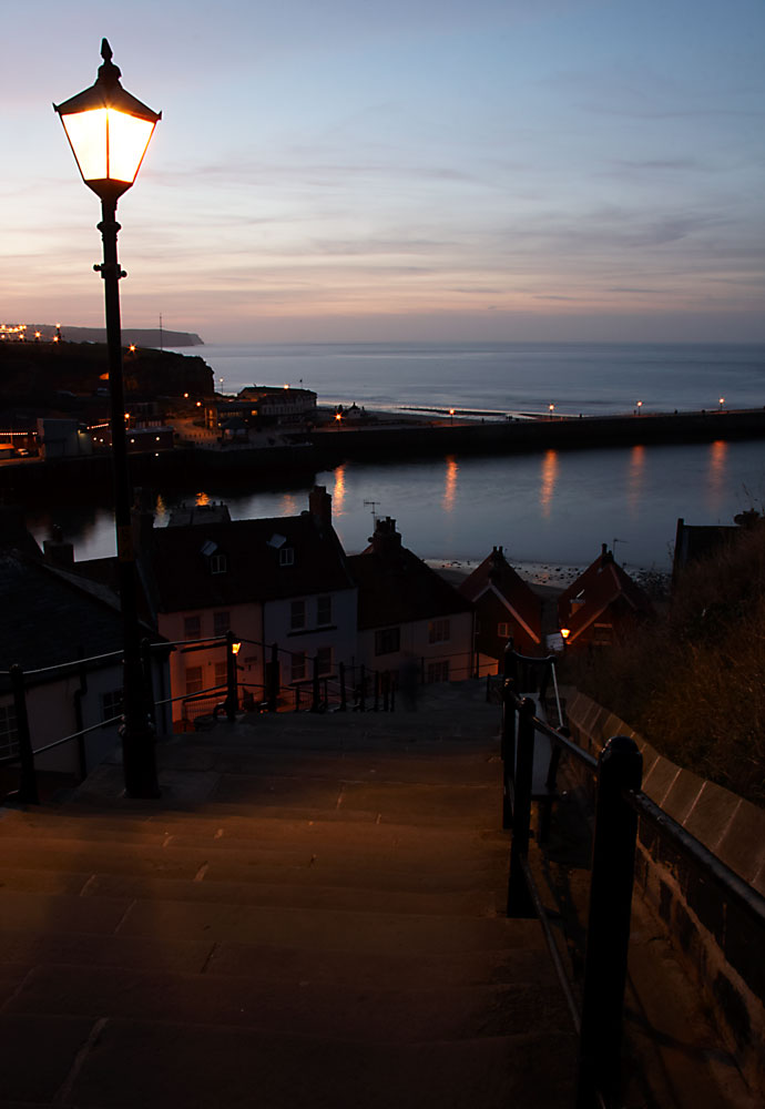 sunset over Whitby