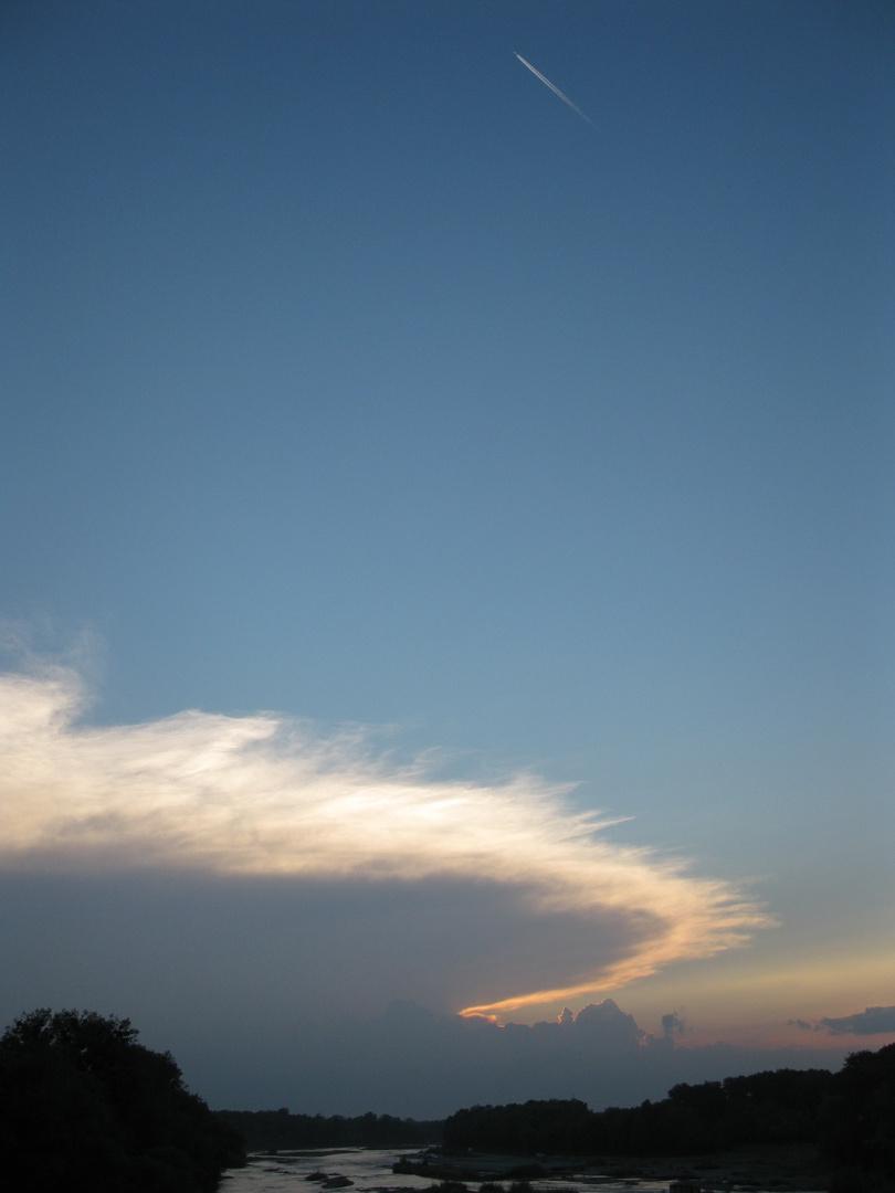 sunset, rain tomorrow