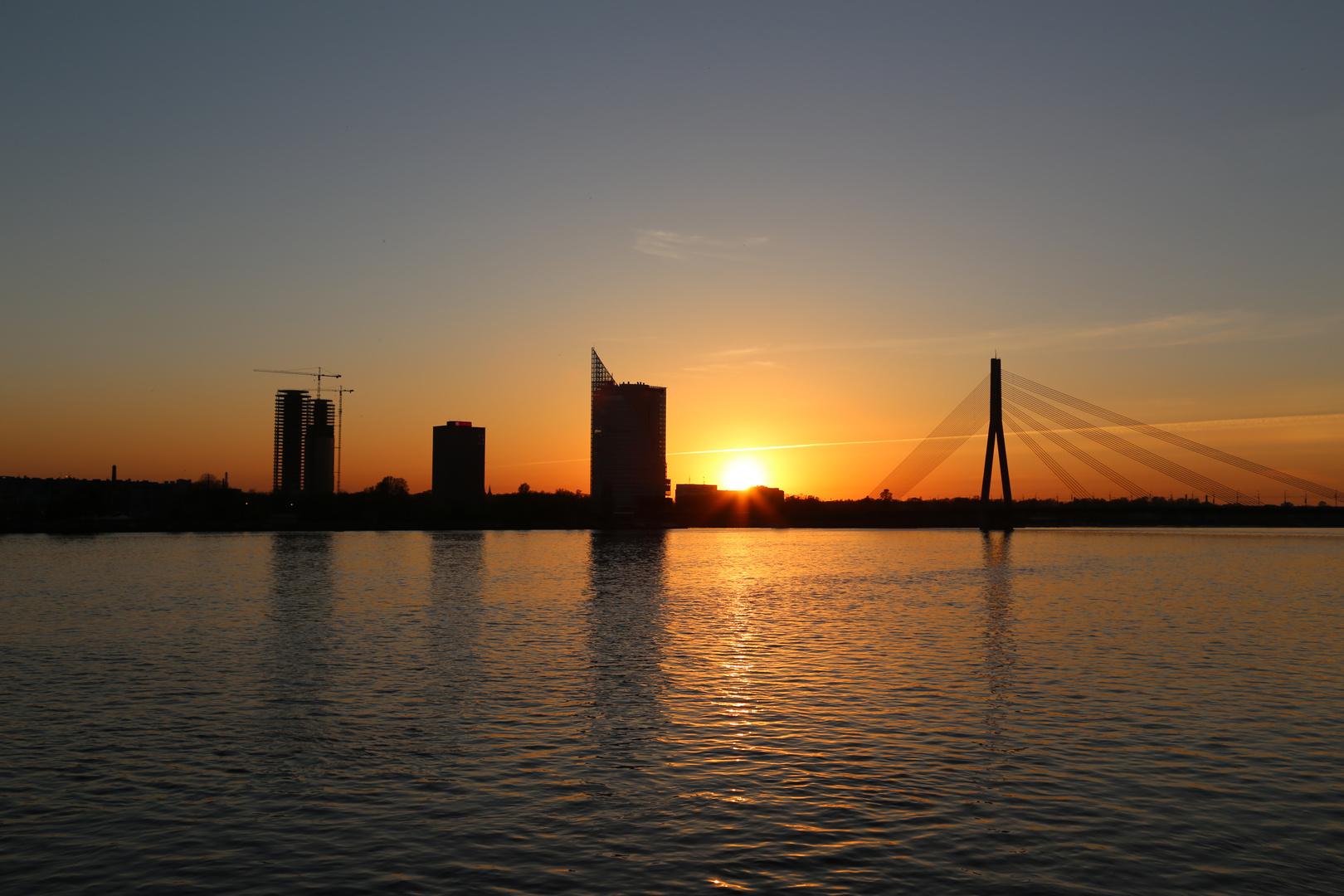 Sunset Riga