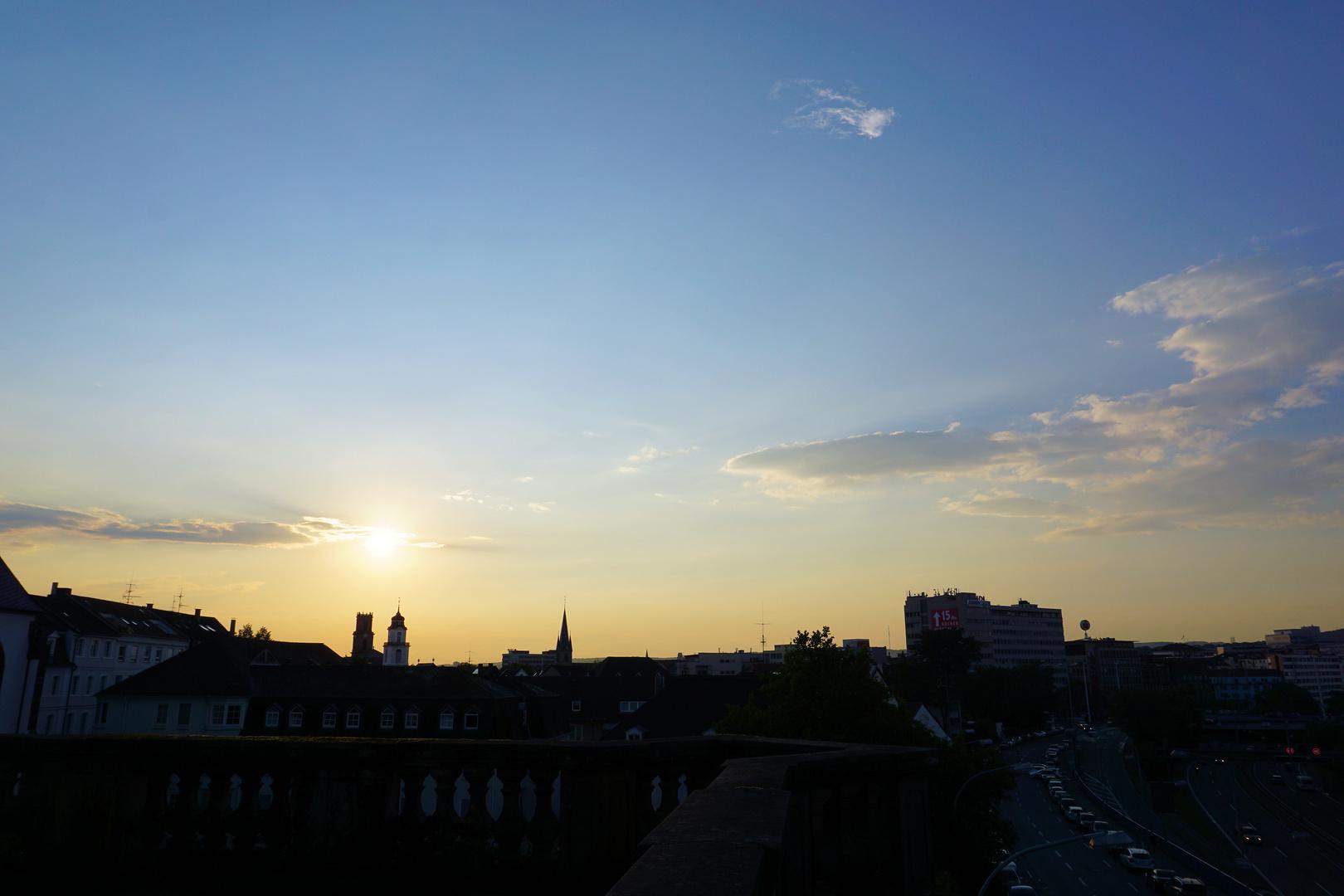 sunset Saarbrücken