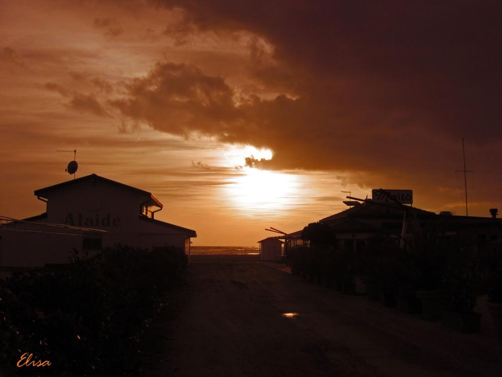 SUNSET -SEA