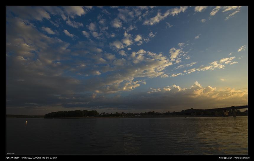 Sunset sur le fleuve