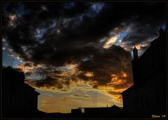 sunset tra i tetti