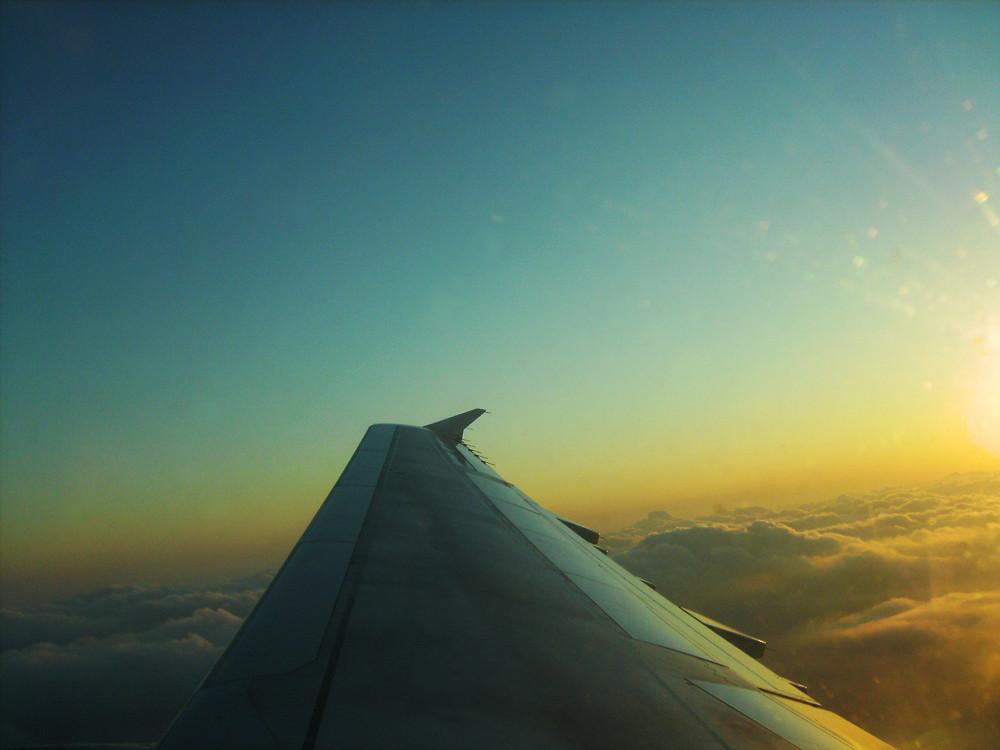 sunset über den Wolken