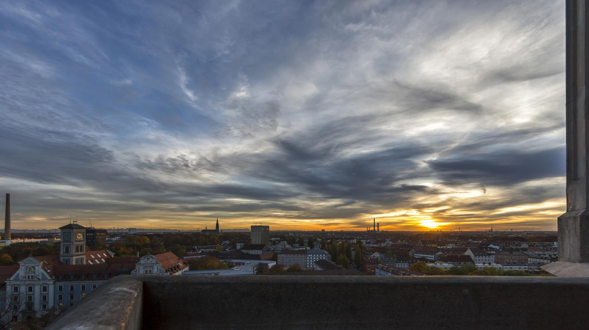 Sunset über München