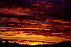 Sunset Ushuaia, Tierra del Fuego, Argentinien