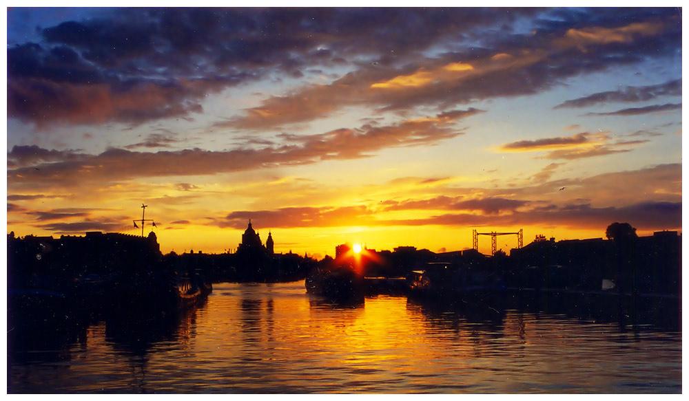 sunset vom hausboot (reload)