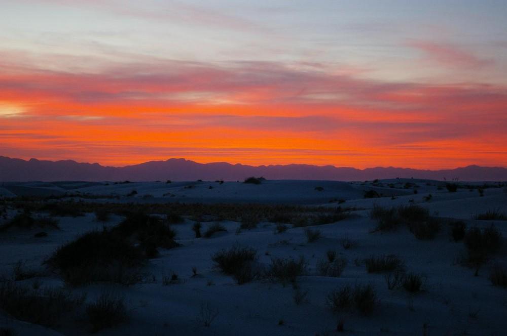 sunset - White Sands -
