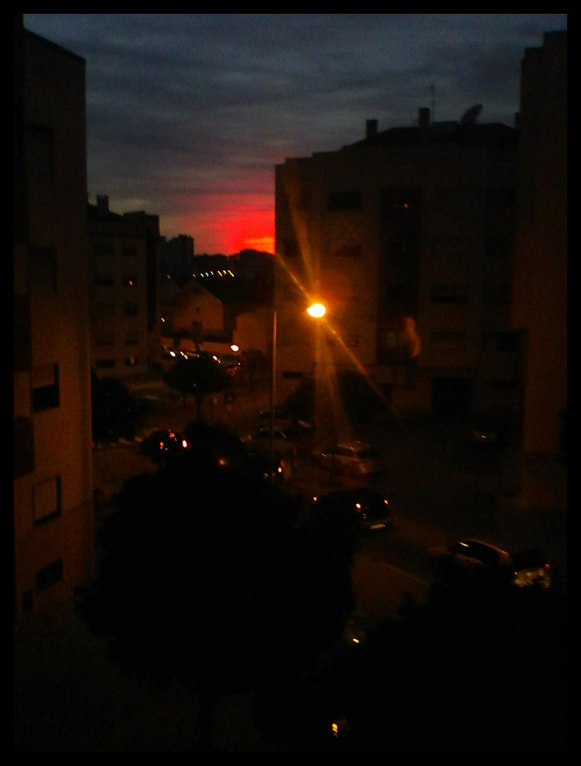 Sunset  yesterday from my window...