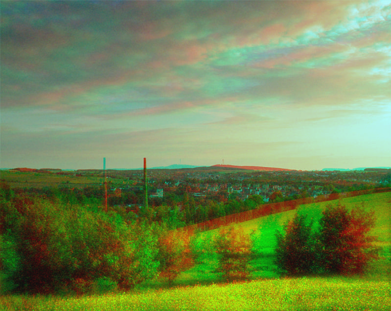 Sunset's Green [Anaglyph 3D]