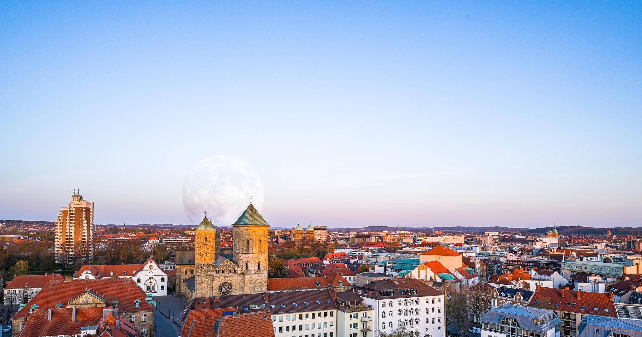 Supermond über Osnabrück