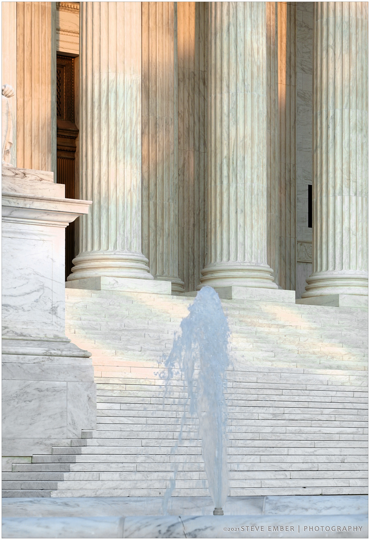 Supreme Court Columns, Steps, Fountain - from 'Scenes of Washington Summer'