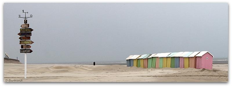 sur la plage abandonnée.....Berck sur mer